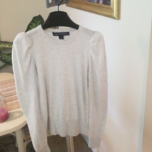 French Connection fitted, puffed shoulders sweater